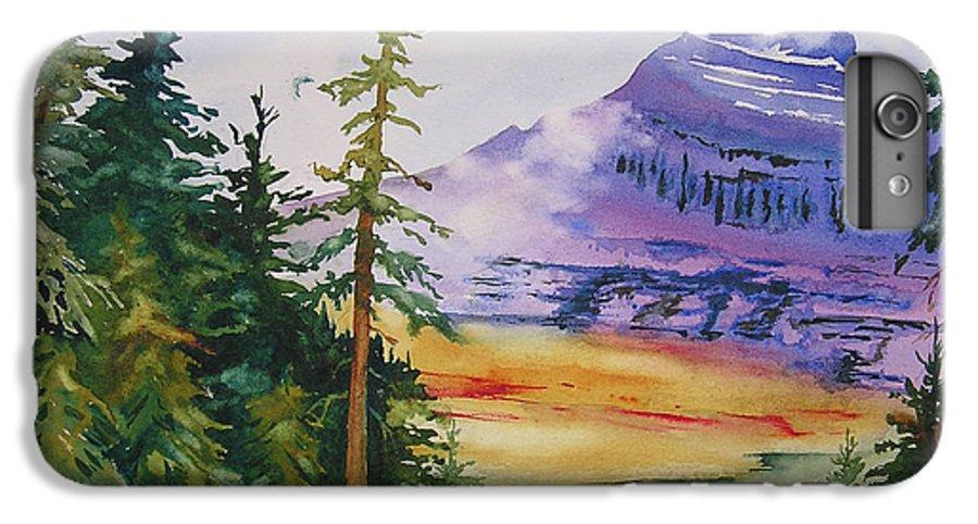 Landscape IPhone 7 Plus Case featuring the painting Logan Pass by Karen Stark