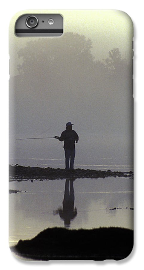 Early IPhone 7 Plus Case featuring the photograph Lone Fisherman by Carl Purcell