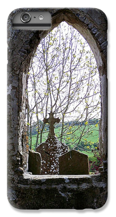 Ireland IPhone 7 Plus Case featuring the photograph Looking Out Fuerty Church Roscommon Ireland by Teresa Mucha