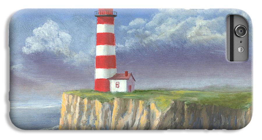 Light IPhone 7 Plus Case featuring the painting Lost Point Light by Jerry McElroy