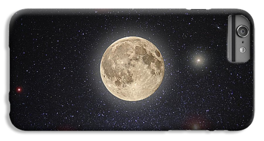 Moon IPhone 7 Plus Case featuring the photograph Luna Lux by Steve Gadomski