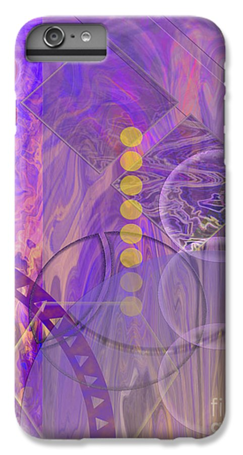 Lunar Impressions 3 IPhone 7 Plus Case featuring the digital art Lunar Impressions 3 by John Beck