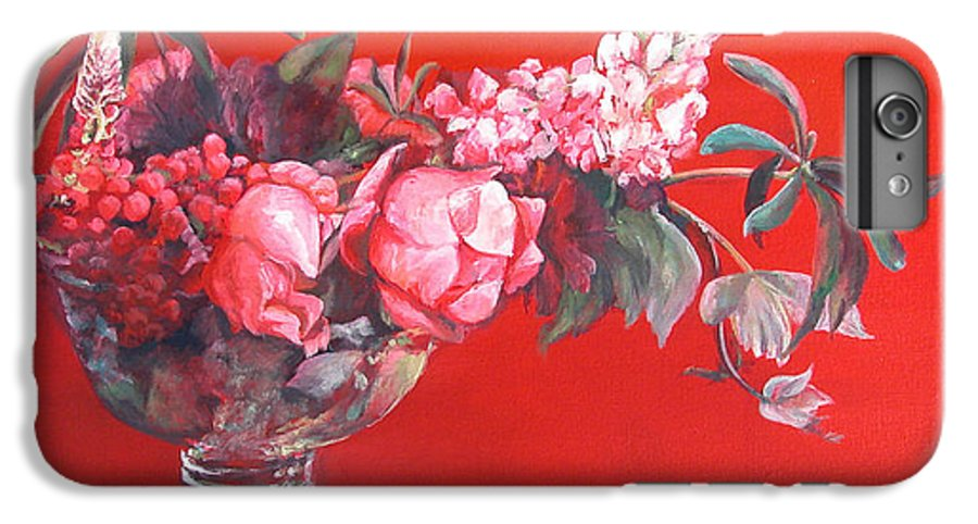 Floral Painting IPhone 7 Plus Case featuring the painting Lupin by Muriel Dolemieux
