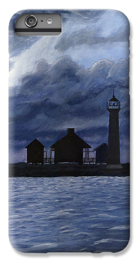 Landscape IPhone 7 Plus Case featuring the painting Lydia Ann Lighthouse by Adam Johnson