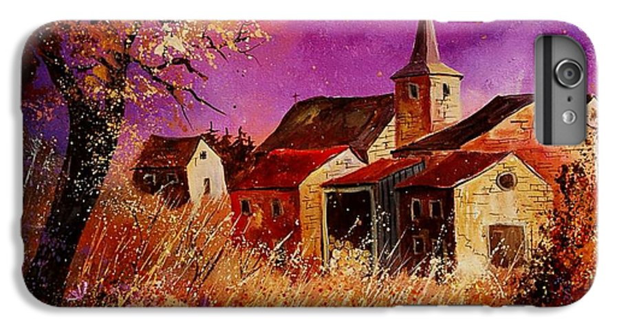 Landscape IPhone 7 Plus Case featuring the painting Magic Autumn by Pol Ledent