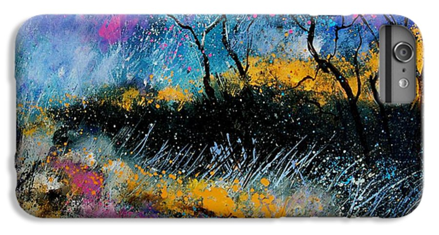 Landscape IPhone 7 Plus Case featuring the painting Magic Morning Light by Pol Ledent