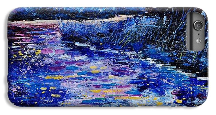 River IPhone 7 Plus Case featuring the painting Magic Pond by Pol Ledent