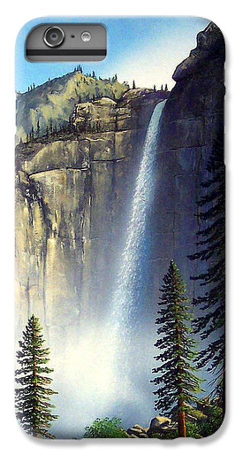 Landscape IPhone 7 Plus Case featuring the painting Majestic Falls by Frank Wilson