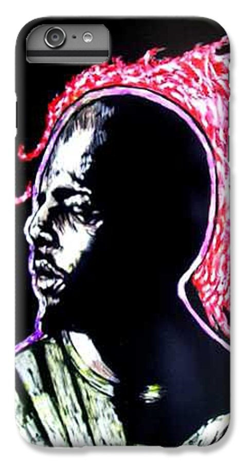 IPhone 7 Plus Case featuring the mixed media Man On Fire by Chester Elmore