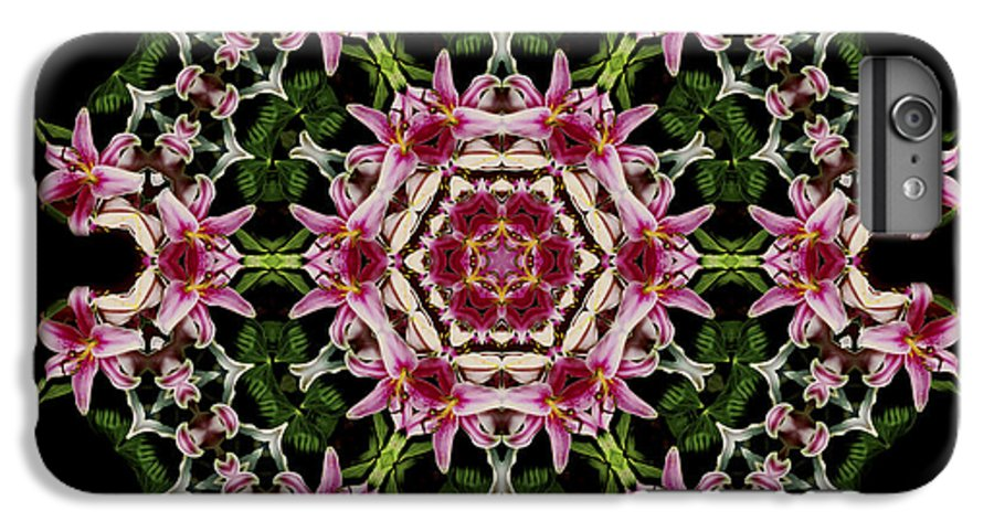 Mandala IPhone 7 Plus Case featuring the photograph Mandala Monadala Lisa by Nancy Griswold