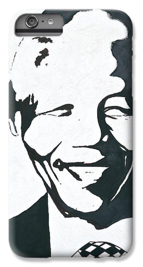 Mandela By Emeka! IPhone 7 Plus Case featuring the painting Mandela by Emeka Okoro