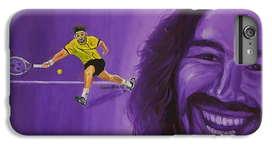 Marcos IPhone 7 Plus Case featuring the painting Marcos Baghdatis by Quwatha Valentine