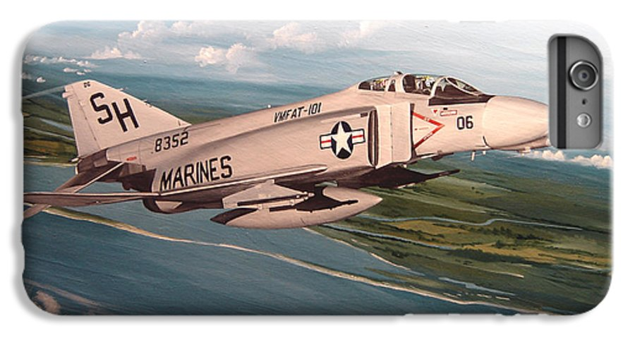 Aviation IPhone 7 Plus Case featuring the painting Marine Phantom by Marc Stewart