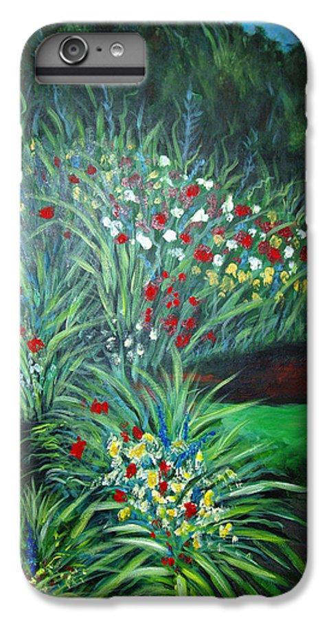 Landscape IPhone 7 Plus Case featuring the painting Maryann's Garden 3 by Nancy Mueller