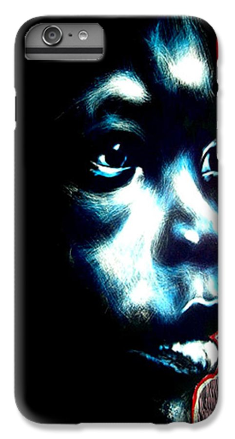 IPhone 7 Plus Case featuring the mixed media Master Blue by Chester Elmore