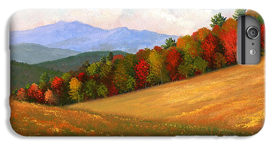 Landscape IPhone 7 Plus Case featuring the painting Mid Autumn by Frank Wilson