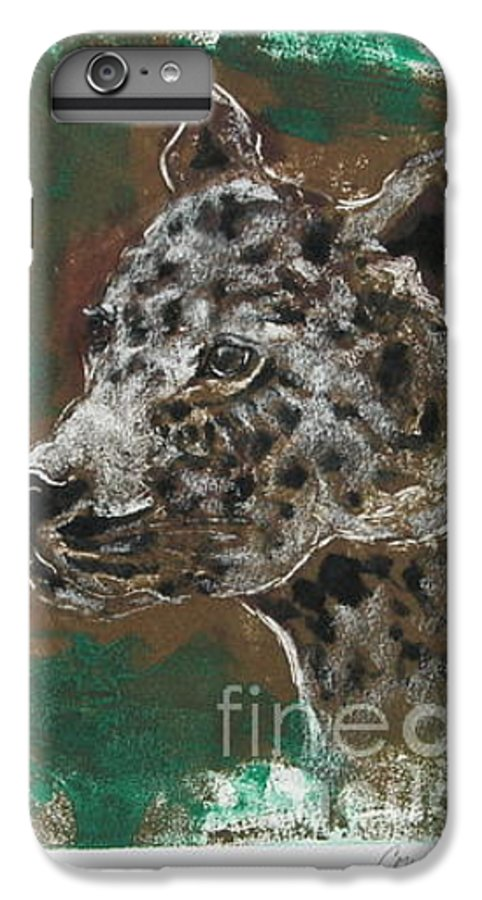 Monotype IPhone 7 Plus Case featuring the mixed media Midnight Prowler by Cori Solomon