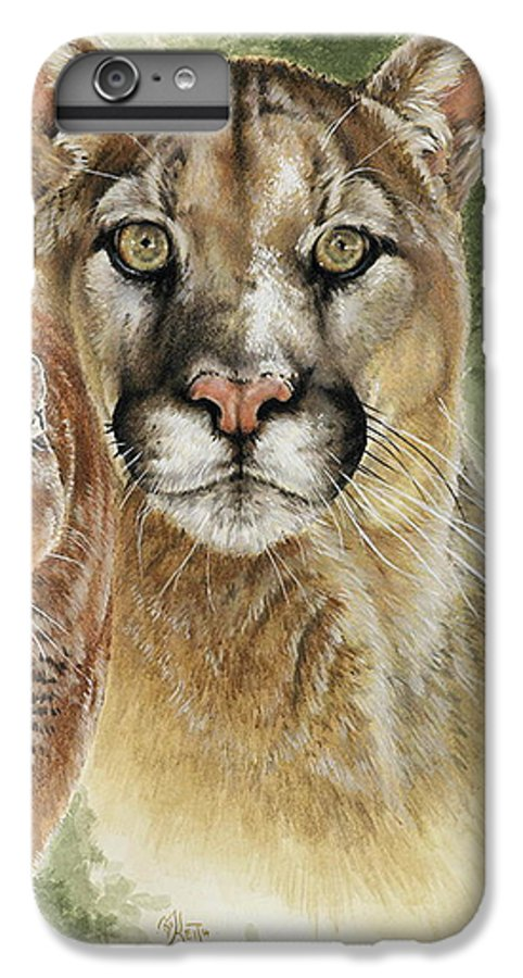 Cougar IPhone 7 Plus Case featuring the mixed media Mighty by Barbara Keith