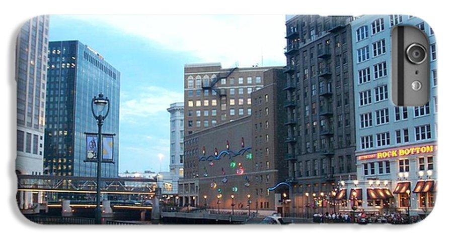 Milwaukee IPhone 7 Plus Case featuring the photograph Milwaukee River Walk by Anita Burgermeister