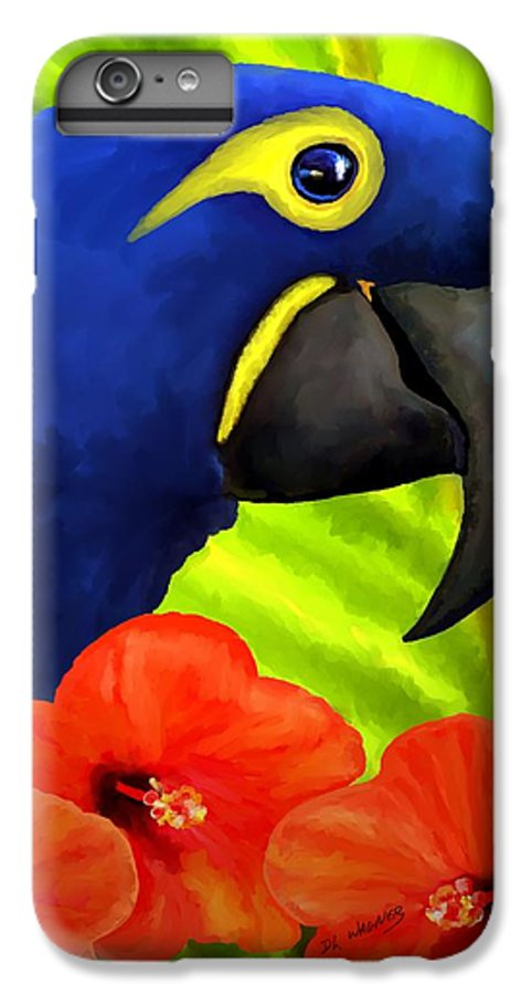 Hyacinth Macaw IPhone 7 Plus Case featuring the painting Mimi by David Wagner