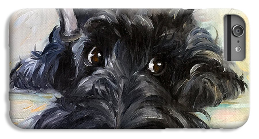 Scottie IPhone 7 Plus Case featuring the painting Mischief by Mary Sparrow