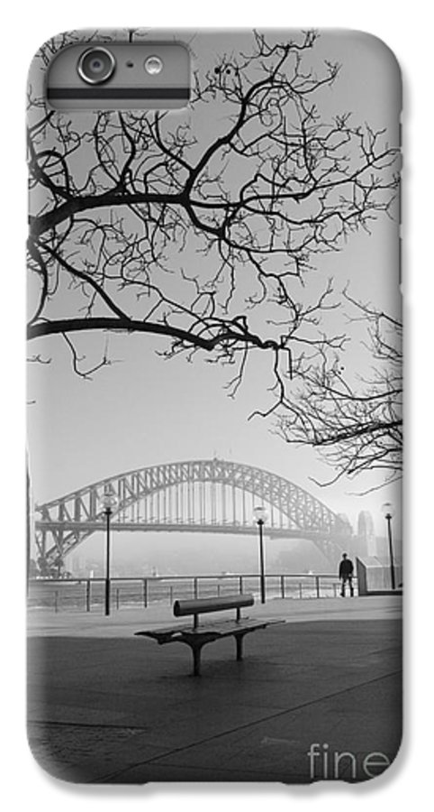 Sydney Harbour Bridge Mist Australia IPhone 7 Plus Case featuring the photograph Misty Sydney Morning by Avalon Fine Art Photography