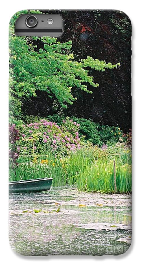 Monet IPhone 7 Plus Case featuring the photograph Monet's Garden Pond And Boat by Nadine Rippelmeyer