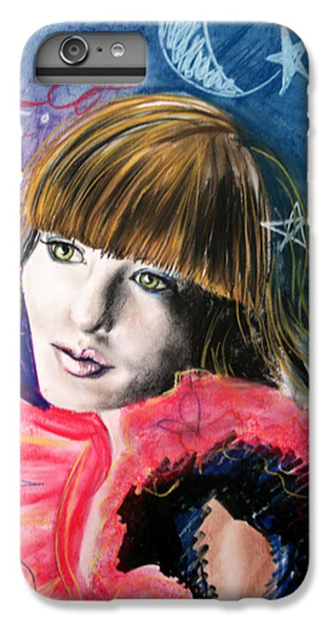Portrait IPhone 7 Plus Case featuring the drawing Moonlight Glam by Maryn Crawford