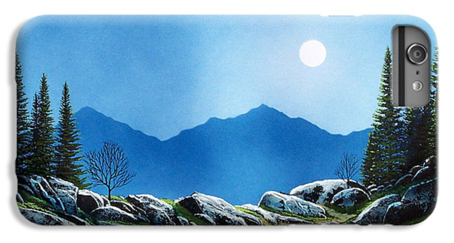 Landscape IPhone 7 Plus Case featuring the painting Moonlight Hike by Frank Wilson