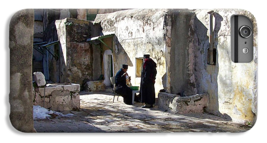 Jerusalem IPhone 7 Plus Case featuring the photograph Morning Conversation by Kathy McClure