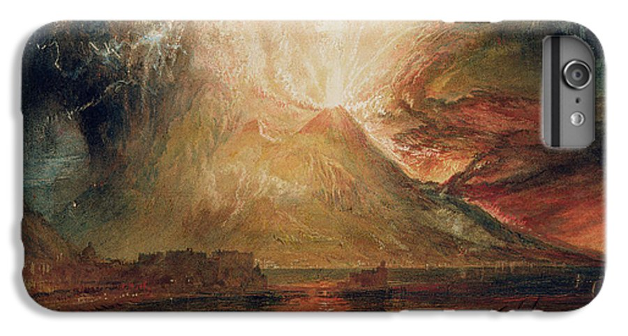 Mount IPhone 7 Plus Case featuring the painting Mount Vesuvius In Eruption by Joseph Mallord William Turner