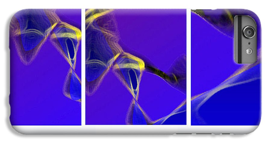 Abstract IPhone 7 Plus Case featuring the digital art Movement In Blue by Steve Karol