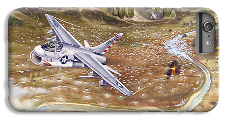 Aviation IPhone 7 Plus Case featuring the painting Mu Gia Mayhem by Marc Stewart
