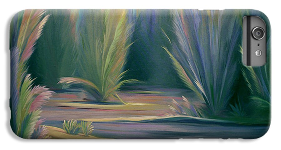 Feathers IPhone 7 Plus Case featuring the painting Mural Field Of Feathers by Nancy Griswold