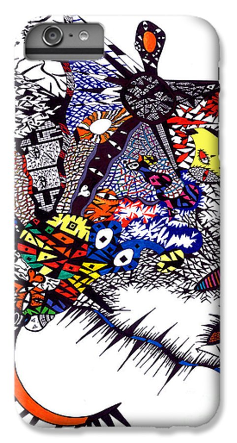Feelings IPhone 7 Plus Case featuring the painting My Feelings by Safak Tulga