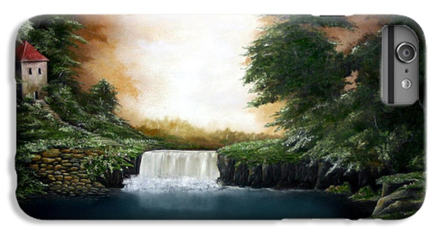 Falls IPhone 7 Plus Case featuring the painting Mystical Falls by Ruben Flanagan
