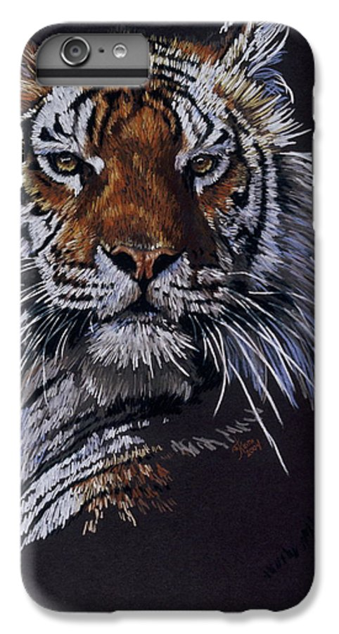 Tiger IPhone 7 Plus Case featuring the drawing Nakita by Barbara Keith