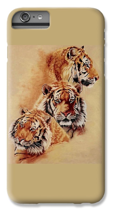 Tiger IPhone 7 Plus Case featuring the pastel Nanook by Barbara Keith