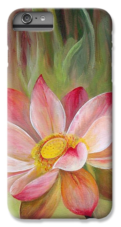 Flower IPhone 7 Plus Case featuring the painting Nenuphar by Muriel Dolemieux
