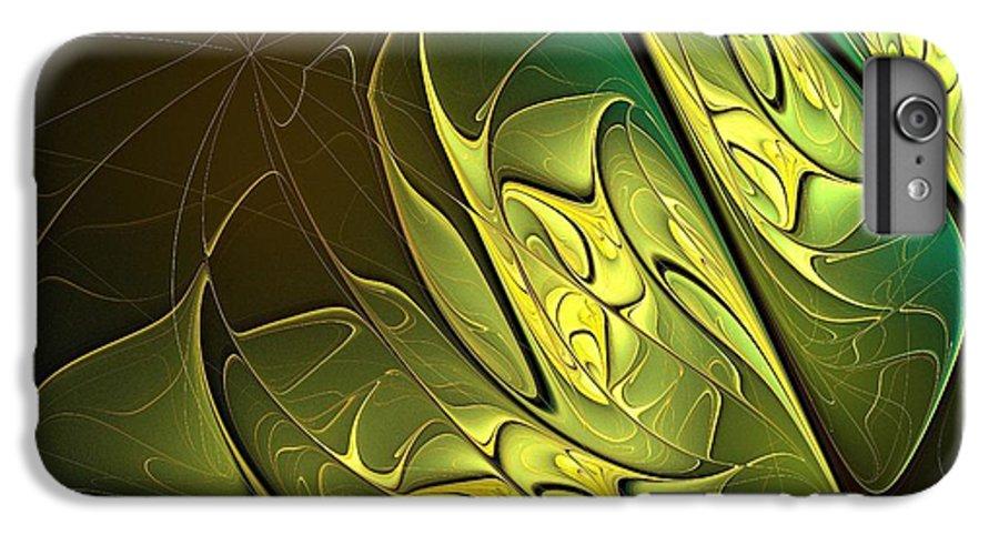 Digital Art IPhone 7 Plus Case featuring the digital art New Leaves by Amanda Moore
