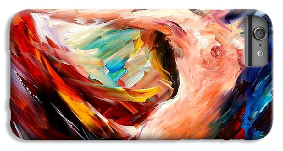 Nude IPhone 7 Plus Case featuring the painting Night Flight by Leonid Afremov