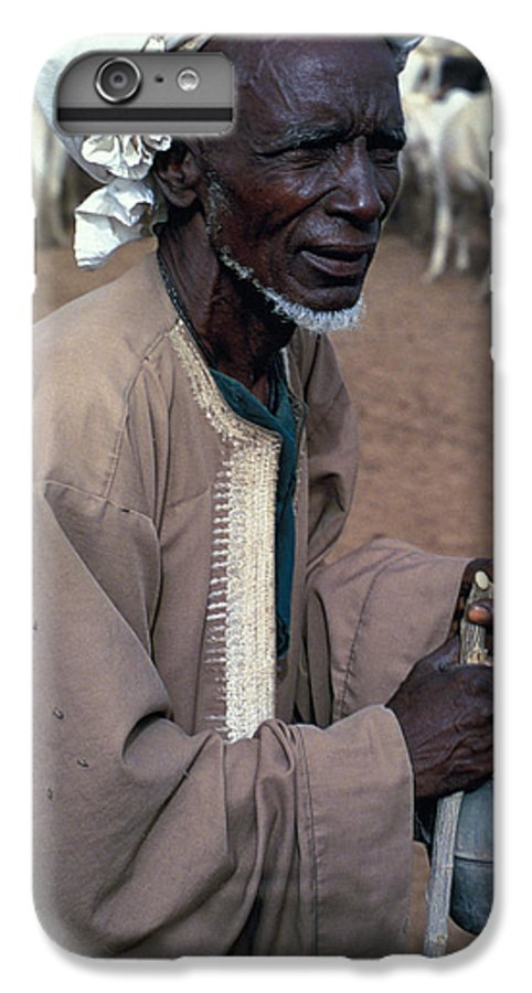 Turban IPhone 7 Plus Case featuring the photograph Nomad In Senegal by Carl Purcell