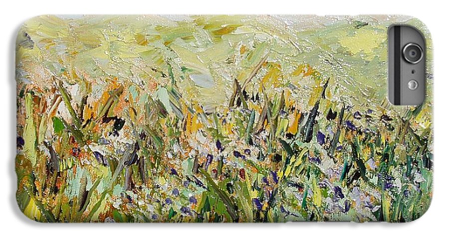 Field Paintings IPhone 7 Plus Case featuring the painting Nose Hill by Seon-Jeong Kim