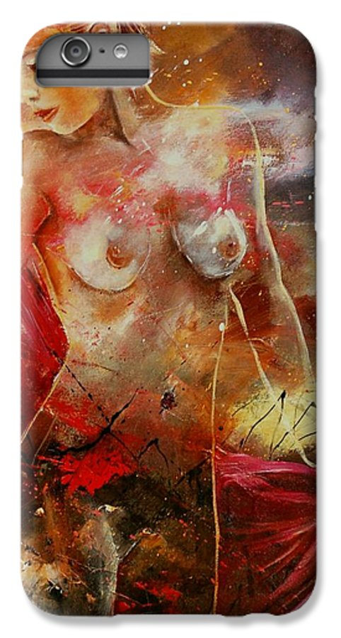 Nude IPhone 7 Plus Case featuring the painting Nude 561008 by Pol Ledent