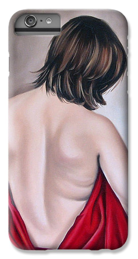 Nude IPhone 7 Plus Case featuring the painting Nude Hundred And One Of Seven by Ilse Kleyn