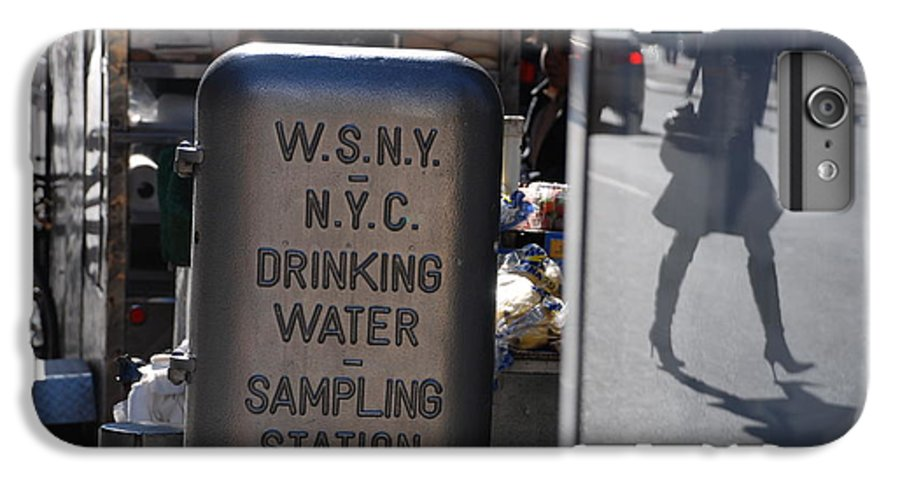 Street Scene IPhone 7 Plus Case featuring the photograph Nyc Drinking Water by Rob Hans