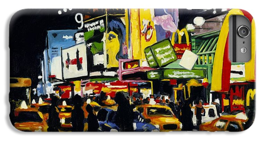 New York IPhone 7 Plus Case featuring the painting Nyc II The Temple Of M by Robert Reeves