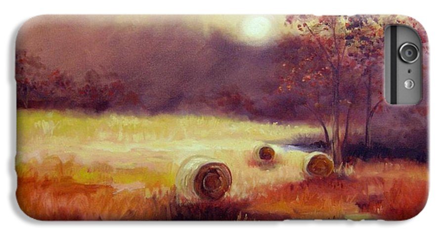 Fall Landscapes IPhone 7 Plus Case featuring the painting October Pasture by Ginger Concepcion