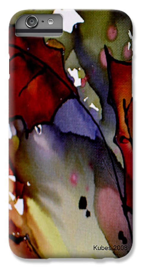 Leaf IPhone 7 Plus Case featuring the mixed media Octoberfirst by Susan Kubes