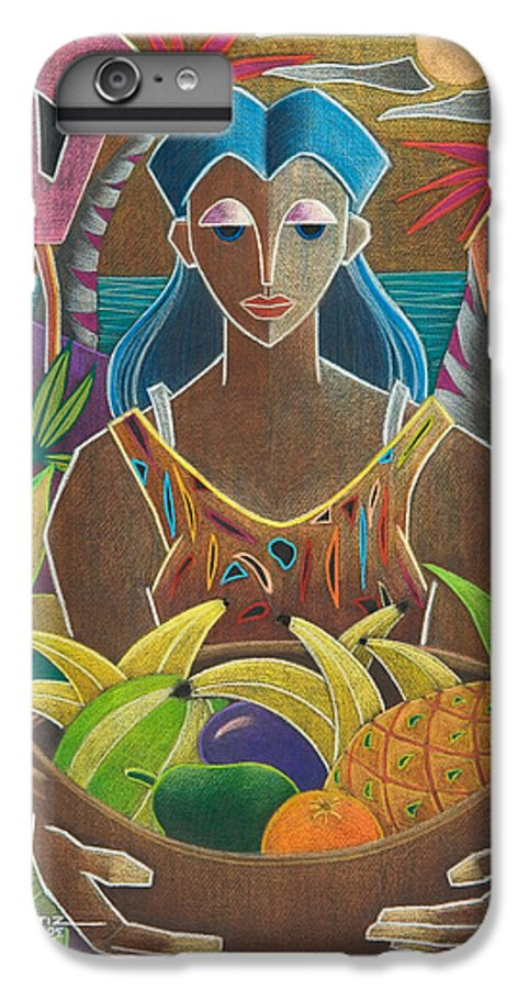 Female IPhone 7 Plus Case featuring the painting Ofrendas De Mi Tierra by Oscar Ortiz